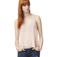 Sheer Hearts Hi-Lo Tank