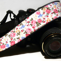 Floral Camera Strap. dSLR Camera Strap. Nikon Canon Camera Strap. Women Accessories.