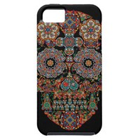 Flower Sugar Skull Apple iPhone 5 Cover