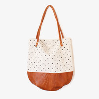 White Dotty Tote