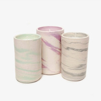 Marbled Ceramic Soy Candle