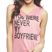 You Were Never My Boyfriend Tank | Wet Seal