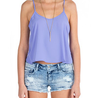 Lush Clothing - Ladder Back Cut Out Cami - Lilac