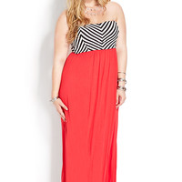 Cool Girl Chevron Maxi Dress | FOREVER21 PLUS - 2000107566