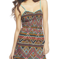 Tribal Smocked Bodice Dress | Wet Seal
