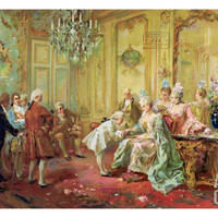 The Presentation of the Young Mozart to Mme De Pompadour at Versailles in 1763 Giclee Print by Vicente De Paredes at Art.com