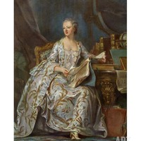 Madame De Pompadour, Mistress of French King Louis XV Giclee Print at Art.com