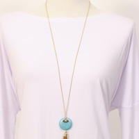 Fringe Necklace Turq » Vertage Clothing