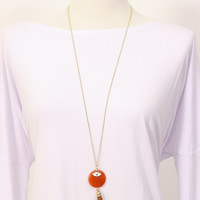 Fringe Necklace Coral » Vertage Clothing