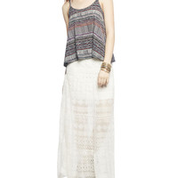 Macrame Strap Tribal Swing Tank | Wet Seal
