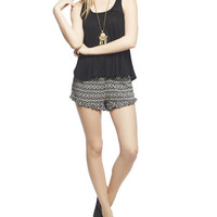 Tribal Ruffle Trim Short | Wet Seal