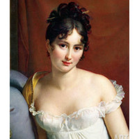Portrait of Madame Recamier (1777-1849) Giclee Print by Francois Gerard at Art.com