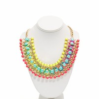 Rainbow Wrapped Jewel Necklace - GoJane.com