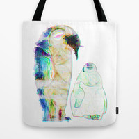Remix Emperor Penguins Tote Bag by Ben Geiger