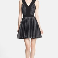 Robert Rodriguez Zebra Stripe Lace Dress | Nordstrom