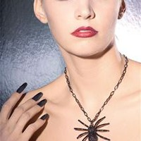 Black Spider Necklace