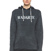 Radarte Poly-Blend Hoodie in Black Heather