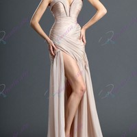 2014 Sexy Chiffon Long Party Gown Formal Prom Dress Celebrity Evening Dresses