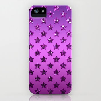 Stars Purple Sequins G195 iPhone & iPod Case by MedusArt