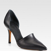 Claire Choked Up Leather d'Orsay Pumps
