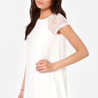 True Romance Ivory Lace Dress