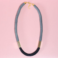 Two Tone - Cord necklace with beads