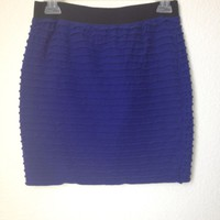 Blue Ruffle Tiered Mini Skirt By Forever 21 Size L