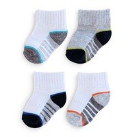 SONOMA life + style® 4-pk. Striped Quarter Socks
