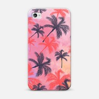 Retro Tropical Palm Tree Pastel Watercolor Pattern | Design your own iPhonecase and Samsungcase using Instagram photos at Casetagram.com