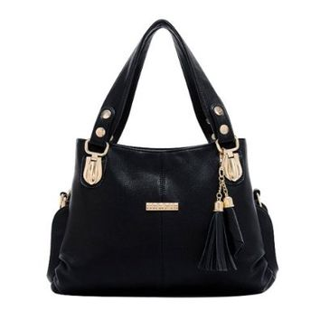 High Quality Tassel Pendant Tote Purse Handbag Shoulder Bag