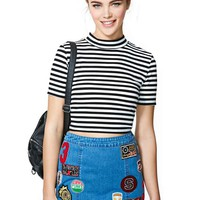 MinkPink Sneaking Out Crop Top