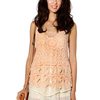 Papaya Clothing Online :: LACY CROCHET SLEEVELESS TOP