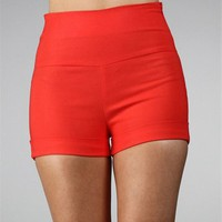 Coral High Waisted Shorts