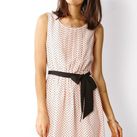 Sweet Pleat Dot Dress