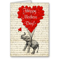 Funny vintage elephant mothers day