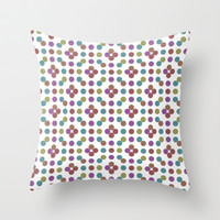 Multicoloed Circles Pattern Throw Pillow by Danflcreativo