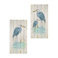 Blue Heron Wood Wall Plaques