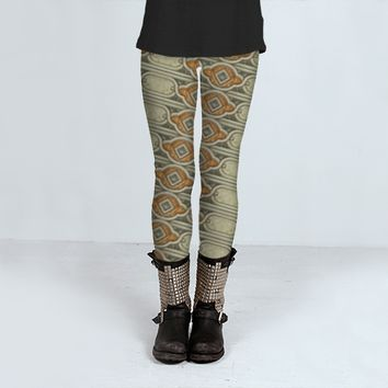 Deco Geometric Pattern by Daniel Ferreira-Leites (Leggings)
