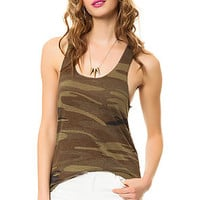 The Meegs Racer Tank in Camo