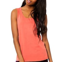 The Label Scout Muscle Tee in Spiced Coral