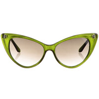 Cateye Sunglasses in Lime Soda