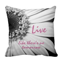 Black and White Sunflower with Life Quote