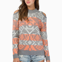 Trickly Tribal Sweater $43