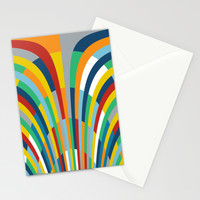 Rainbow Bricks #2 Stationery Cards by Project M