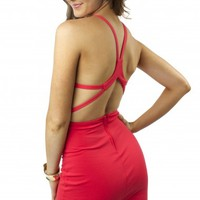 Coral Cutout Bodycon