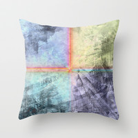 abstract 4  Throw Pillow by Sandy Moulder