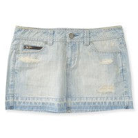 Railroad Stripe Denim Mini Skirt
