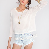 Melanie Lace Top - Ivory