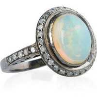 Artisan | 18-karat gold diamond and opal ring | NET-A-PORTER.COM
