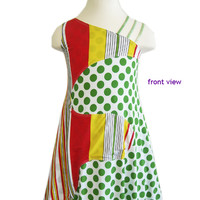 Green Dresses For Girls | Kids Unique One Shoulder Style | TwirlyGirl®